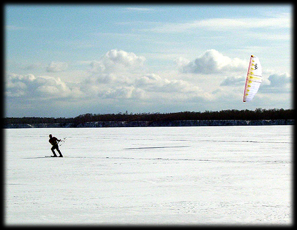 kite skiing on the St. Louis River
