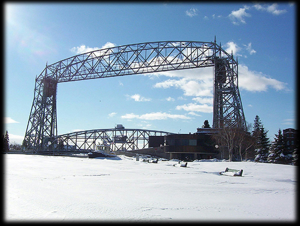 100 Year old Aerial Lift Bridge Duluth Minnesota